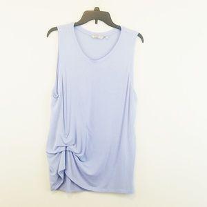 Athleta Blue Knit Top XL